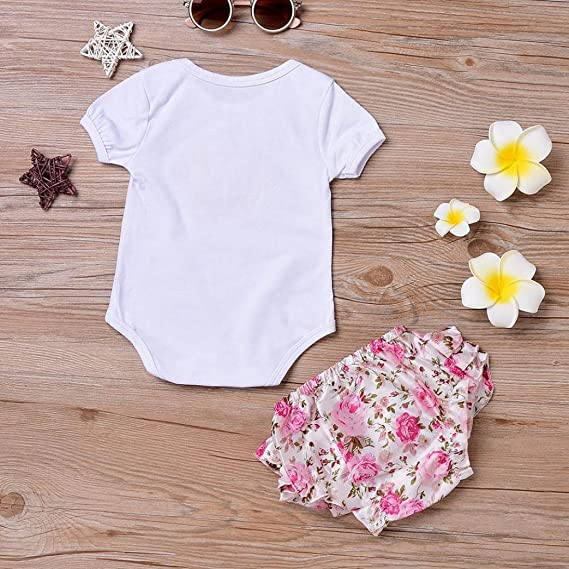 Amazon.com: Lookatool Baby Bodysuits, Toddler Girls Floral Romper Jumpsuit Shorts Pants Set: Clothing