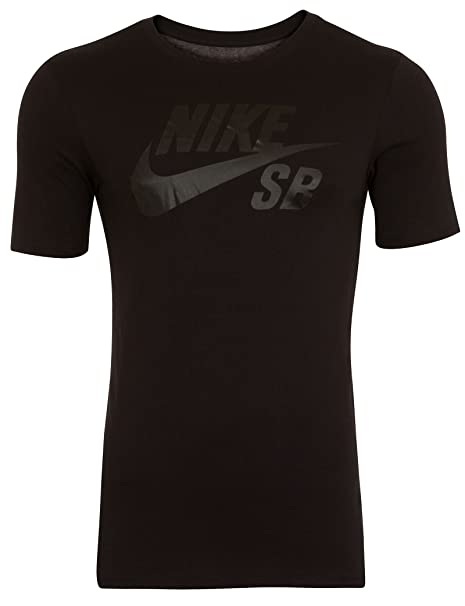 Amazon.com  NIKE Mens SB Logo T-Shirt Black Black 821946-010 Size ... 4a795ce04df