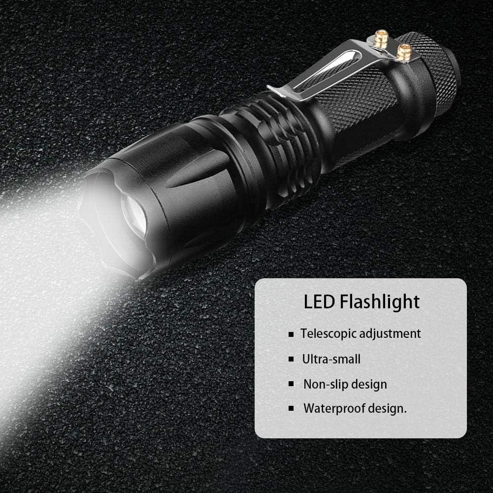 Keine Batterie Goodtimera Mini-LED-Blendtaschenlampe Fokus-Inspektionsleuchte Aus Aluminiumlegierung Innenbeleuchtung Im Freien
