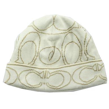 837f825f6f8 Coach 82175 Women s Signature LX Logo Knit Beanie Cap Hat at Amazon ...