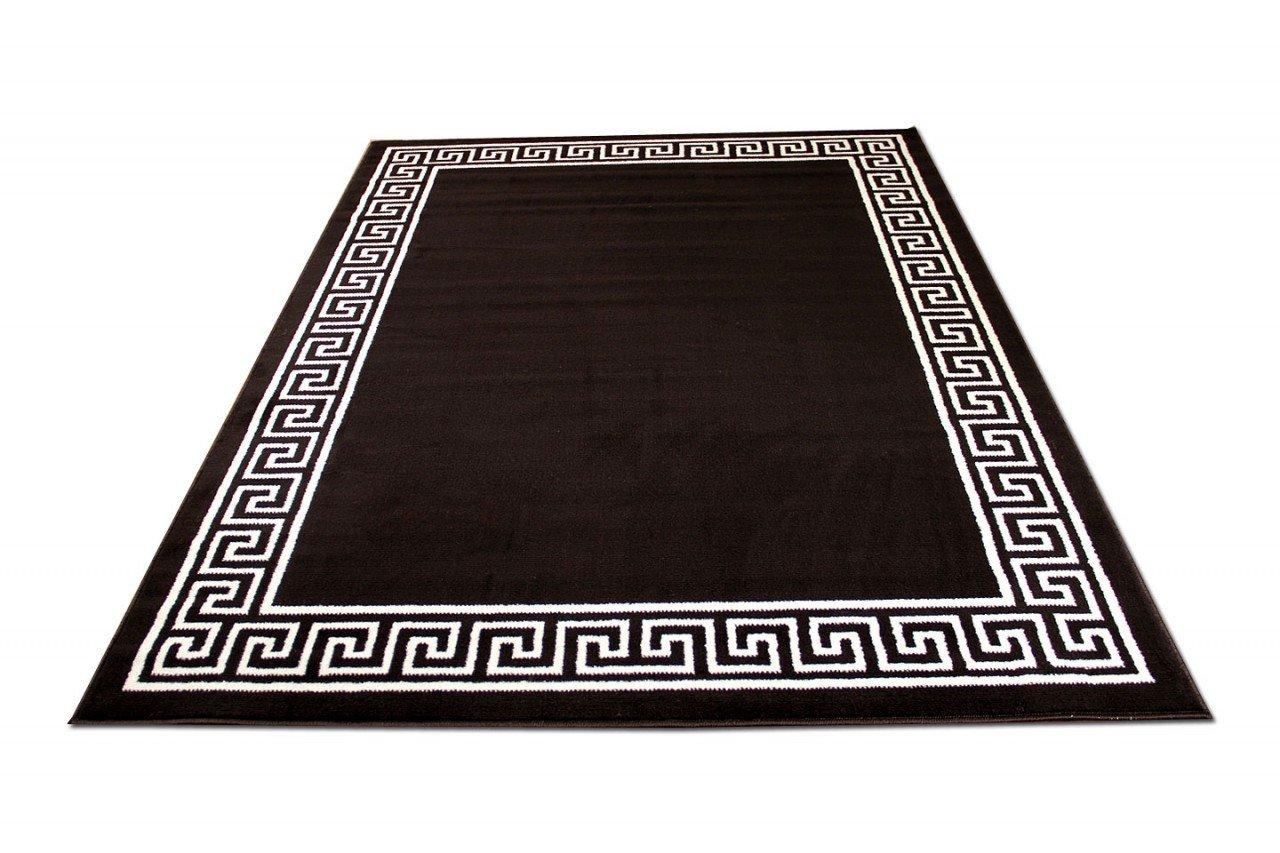 TrendLine Teppich Dunkelbraun Römisch Bordüre in 4 Größen