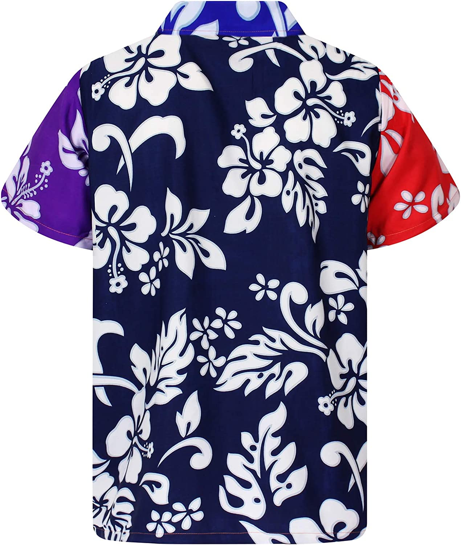 Funky Hawaiian Shirt Hibiscus Ferrari Red Different Sizes