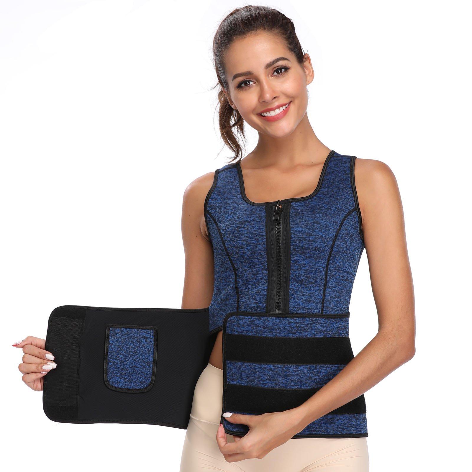 ebdda733c1e61 Galleon - Joyshaper Womens Neoprene Sauna Suit Waist Trainer Vest For  Weight Loss With Sweat Trimmer Belt Tank Top