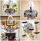 40 inch Halloween Decoration Black Spider Lace