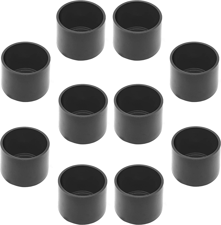 Rohrabdeckung aus hochwertigem Polyethylen Kunststoff Kappe Endkappe f/ür Au/ßenrohr /Ø 28 mm Enkotrade 4er Set Gleitkappen Stuhlbeinkappen