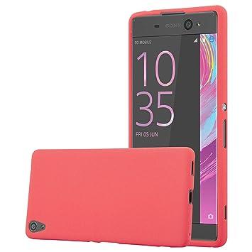 Cadorabo Funda para Sony Xperia XA Ultra en Frost Rojo - Cubierta Proteccíon de Silicona TPU Delgada e Flexible con Antichoque - Gel Case Cover ...
