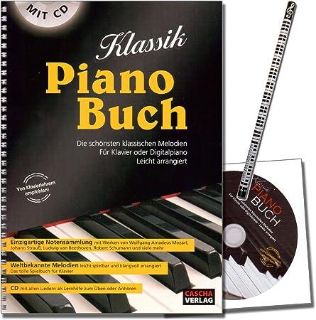 Clásico Piano Libro – Parte libro para Piano con CD y Piano lápiz – Elemento Colección de 50 Más populares y mejores melodías – Clásico para ...