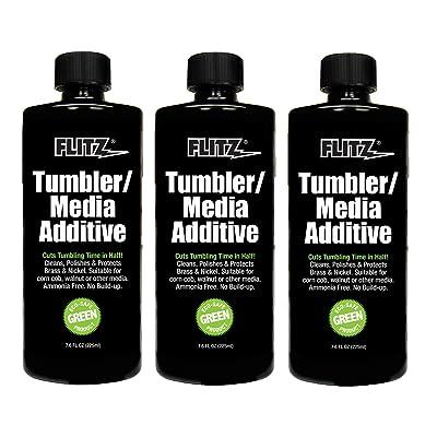 Flitz TA 04885-3A-3PK Tumbler Media Additive, 7.6 oz. Bottle, 3-Pack: Automotive