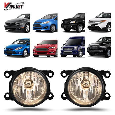 Winjet Wj30 0197 09 For Ford Focus Freestyle Mustang Ranger Taurus X Ls Lincoln Navigator Clear Fog Light Lamps Oe Fitment Replacement Set With