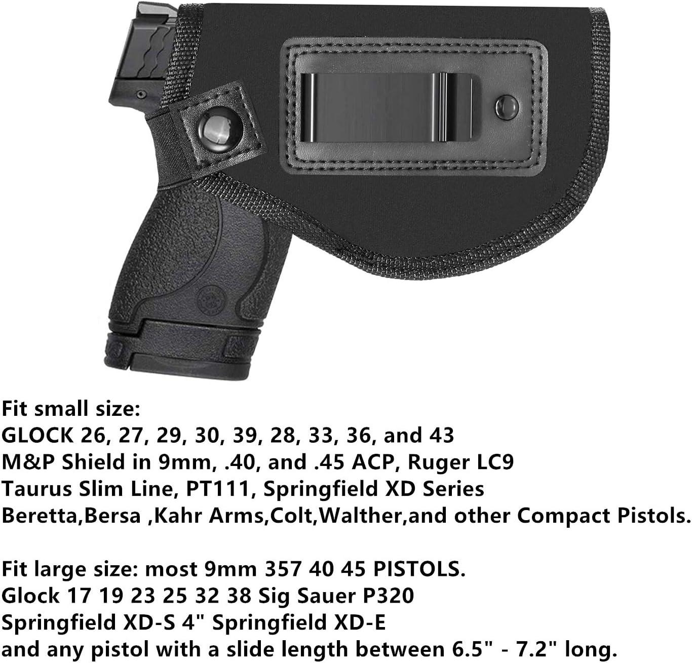 Nailon Gun Holster para Glock Smith /& Wesson Remington Ruger Taurus 9mm Modelos