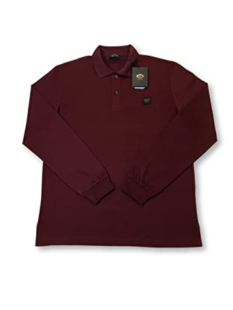 PAUL & SHARK Yachting Long Sleeve Polo in Dark Red L: Amazon.es ...