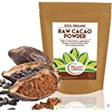 Organic RAW Cacao Powder | 100% PURE Nutritious Vegan Dark Chocolate Ingredient | #1 Best Magnesium Rich Superfood | Premium Quality | Ideal for Baking, Power Smoothies, Protein Energy Bars | 400g | By Nutri Superfoods