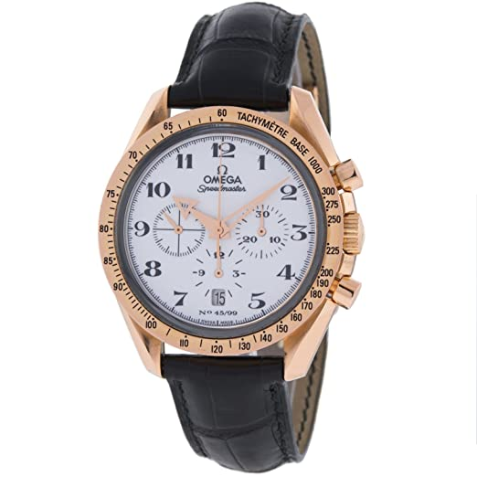 Omega speedmaster - Reloj para hombres, correa de cuero color marrón: Amazon.es: Relojes