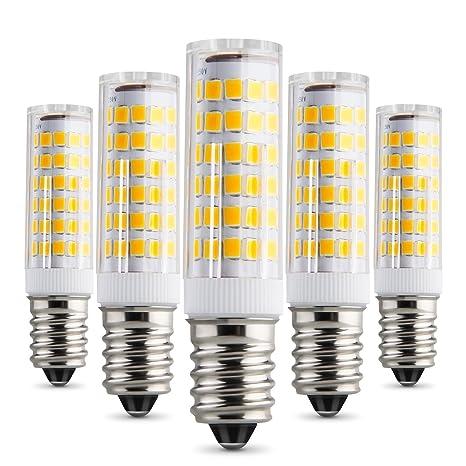 albrillo E14 LED Bombilla No Regulable, Blanco cálido, 5 unidades)