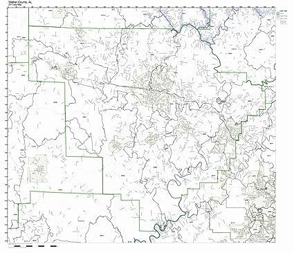 Amazon.com: Walker County, Alabama AL ZIP Code Map Not ...