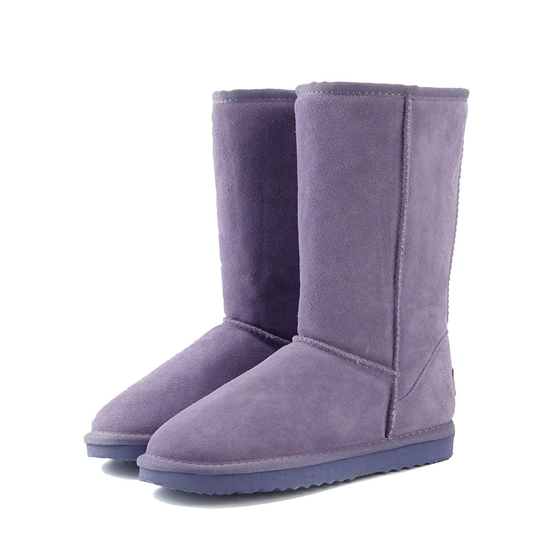 Genuine Leather Fur Snow Boots Women Top Australia Winter Women,