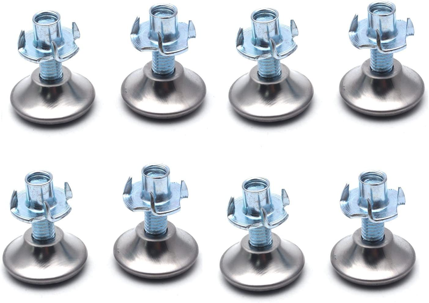 Antrader 8mm Furniture Leg Levelers Table Leveling Feet Adjustable Furniture Foot with T-nut Set of 8