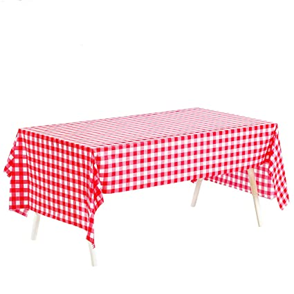 Pack Of 4, Picnic Table Covers, 54u0026quot; X 72u0026quot; Red And White