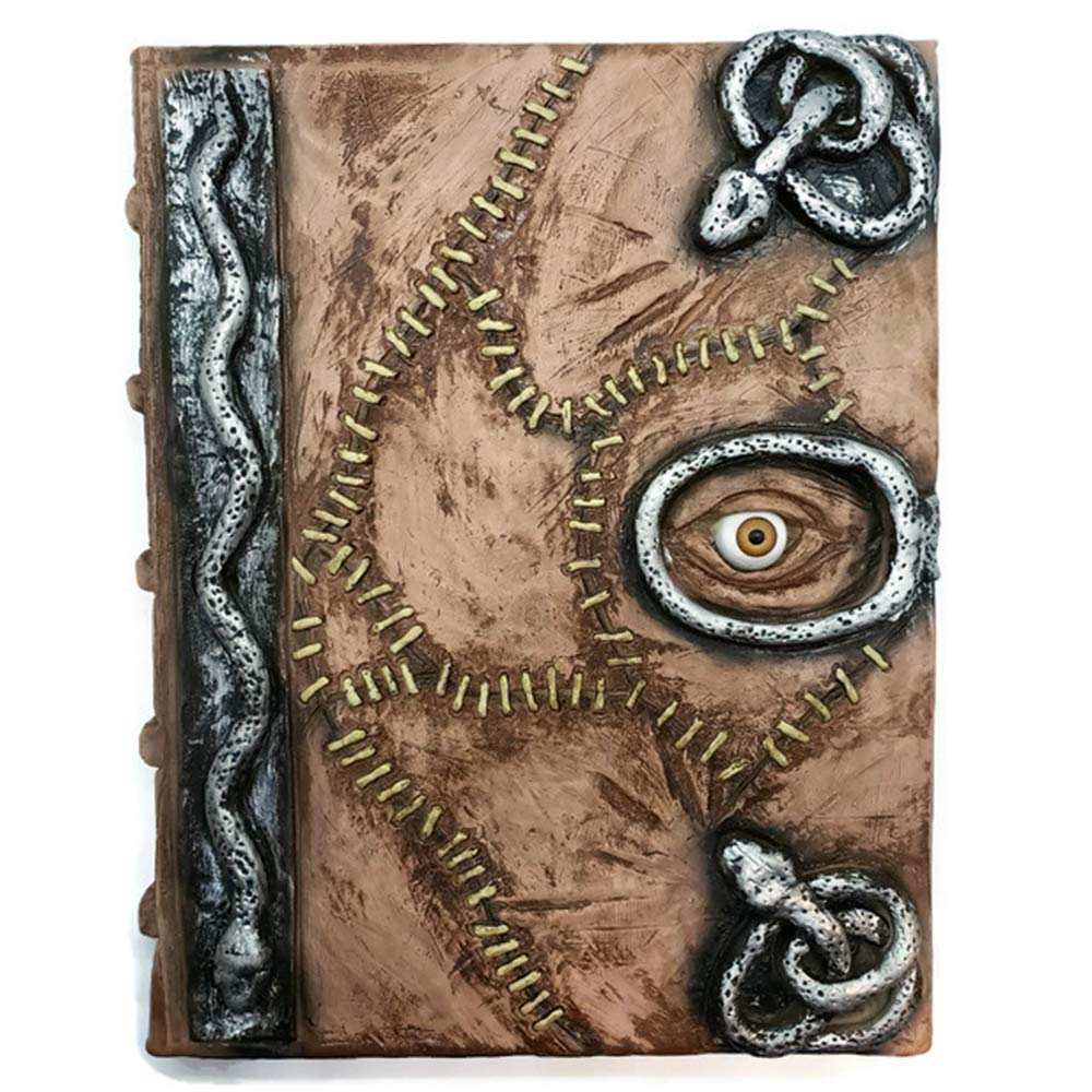Hocus Pocus Book of Spells Prop - spellbook Halloween Decoration Latex Necronomicon Costume Notebook Journal