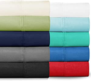 Ivy Union Egyptian Cotton 300 Thread Count Sheet Set Sateen Twin Extra Long, Twin XL (Red)