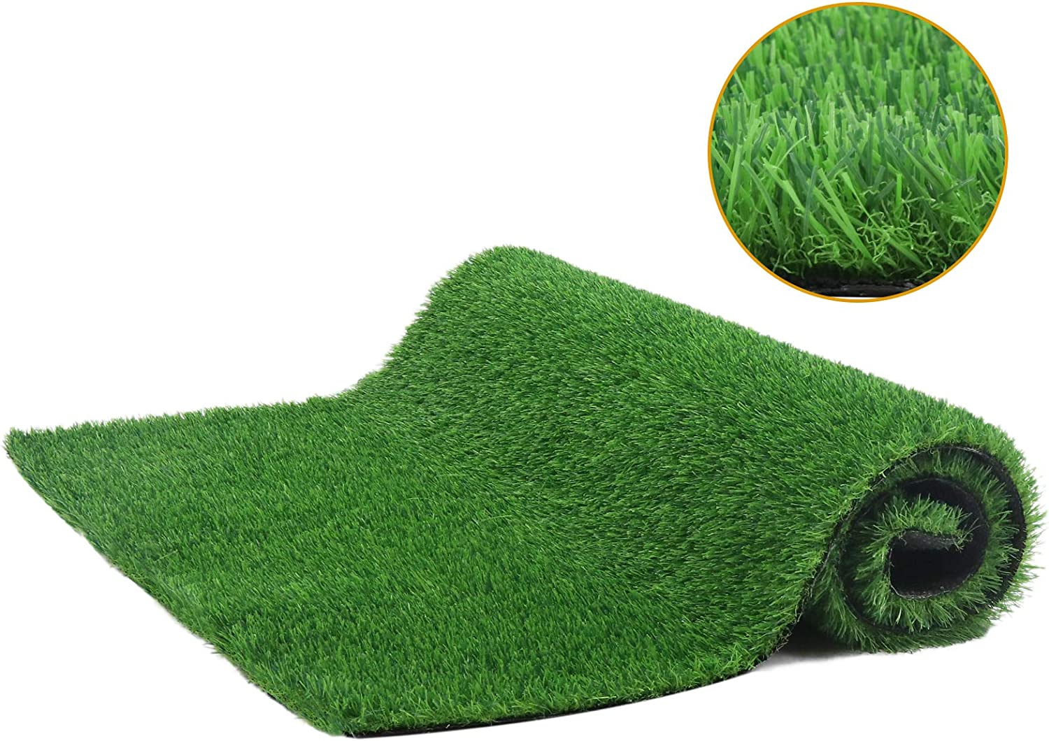 Artificial Grass Turf - 3x5 FTGrass Mat Rug, Synthetic Grass Turfwith Drainage Holes,Faux Grass Carpet Decorfor Indoor Outdoor Garden Patio Lawn Landscape, GrassPad forDogs