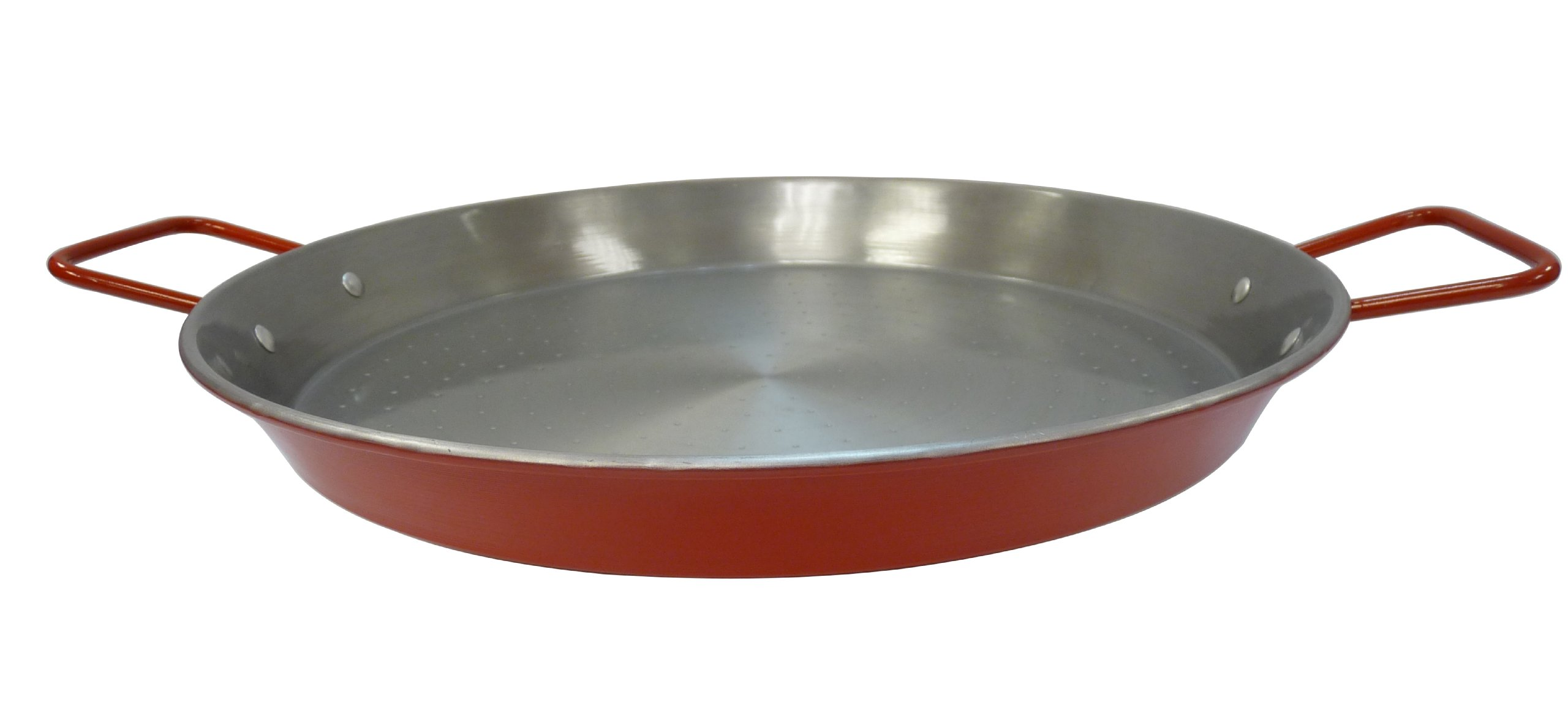 IMUSA USA CAR-52031T NonCoated Aluminized Paella Pan 15-Inch, Red