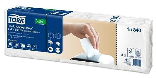 TORK Xpressnap - Servilletas de papel (5 paquetes de 100 servilletas, extrasuave), color blanco: Amazon.es: Industria, empresas y ciencia