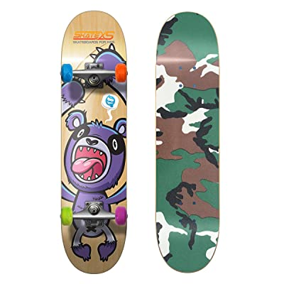 SkateXS Beginner Panda Street Kids Skateboard : Sports & Outdoors