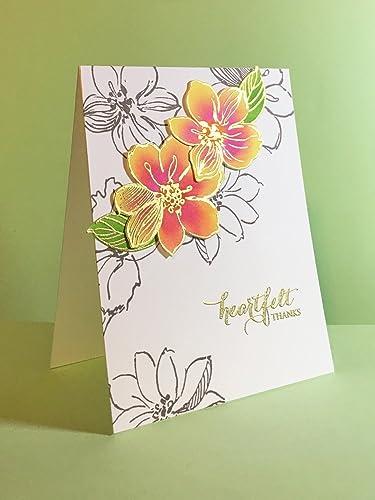 Amazon Com Handmade Thank You Card Heartfelt Thanks With Hibiscus