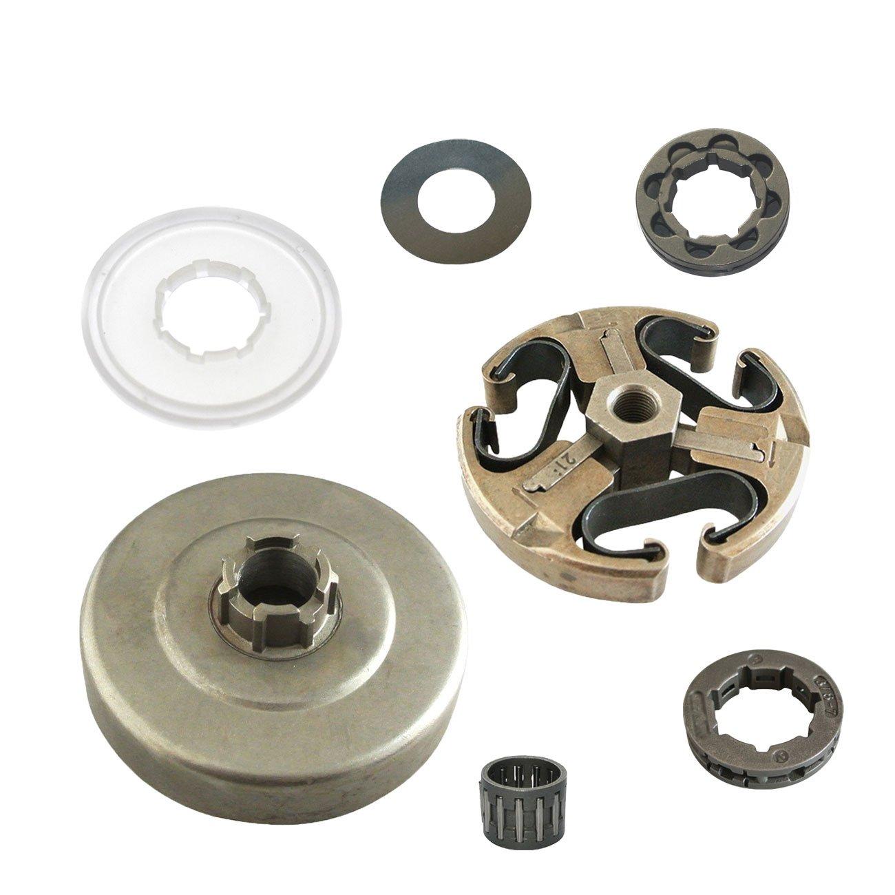 jrl 2pieza 3//8/embrague borde de rodamiento de tambor para Husqvarna 61/66/162/266/268/272/motosierra XP