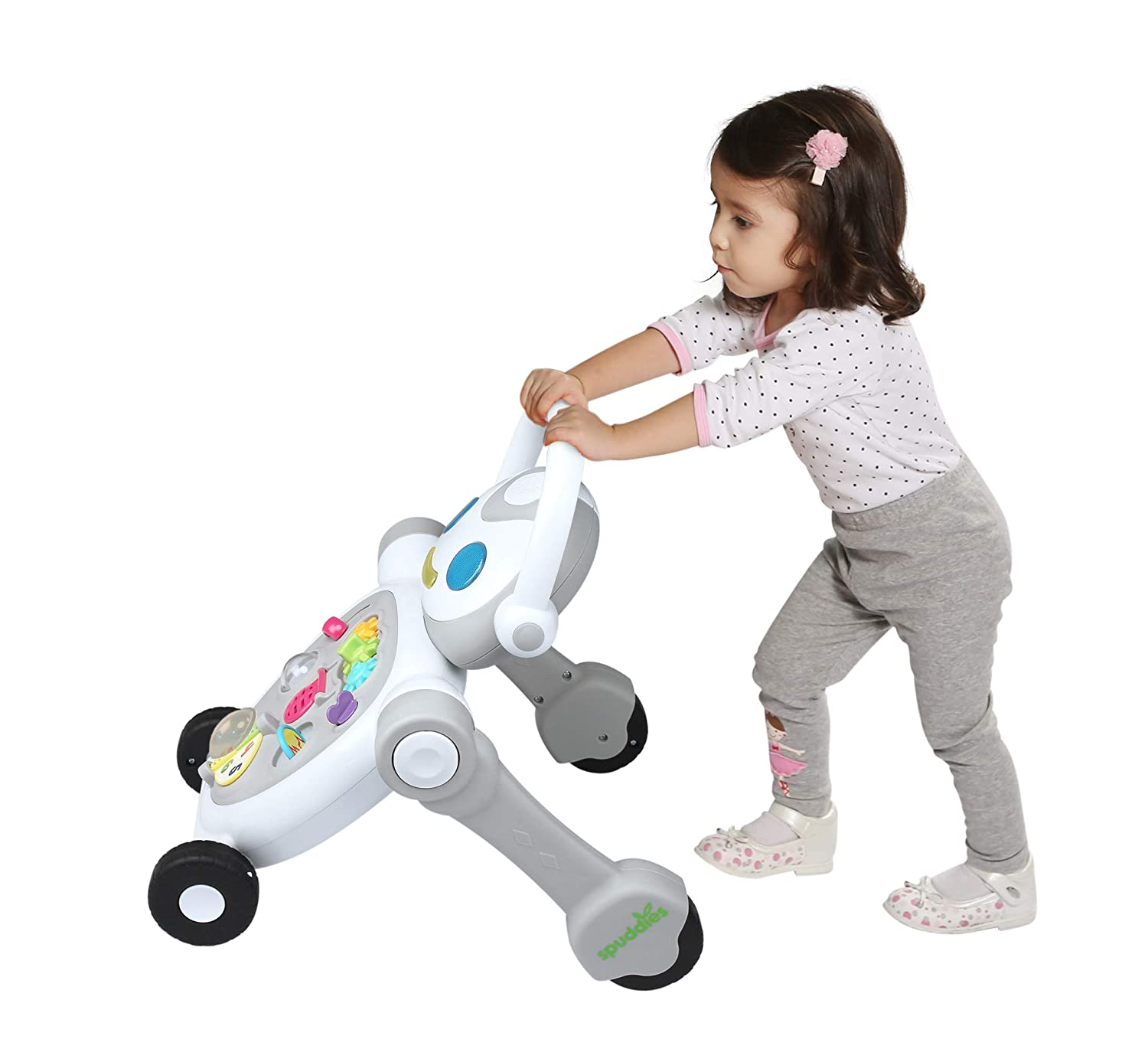 Amazon.com: Spuddies Robot - Paseador portátil, color gris: Baby