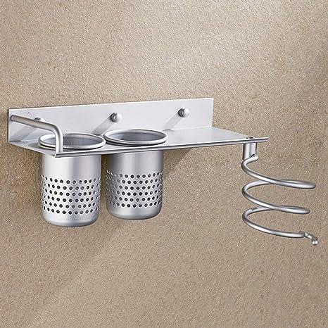 Secador de pelo de plata moderna del soporte de baño Secador de ...