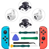 SOKER 3D Analog Replacement Thumb Stick & Metal Buckle, Nintendo Switch Joy-Con Replacement Tools, 3D Analog Joystick for JoyCon Left / Right Analog Controllers - Including Y1.5 & +2.0 Screwdriver