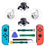 Joy-Con Joystick, 3D Analog Joystick Thumb Sticks and Metal Buckles for Nintendo Switch Controller, NS Replacement...
