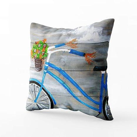 musesh de bicicleta negro bici bicicleta rosa Funda de cojines manta funda de almohada para sofá hogar decorativo funda Ideas de regalo funda de ...
