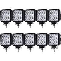 Hengda 10X 48W Faro Trabajo Led, Focos LED Tractor 12V Focos LED para Tractores IP67 Impermeable Luz de Niebla Coche…