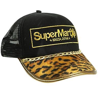 SuperMartxe Ibiza: Gorra de Camionero Leopardo - Negro, Talla ...
