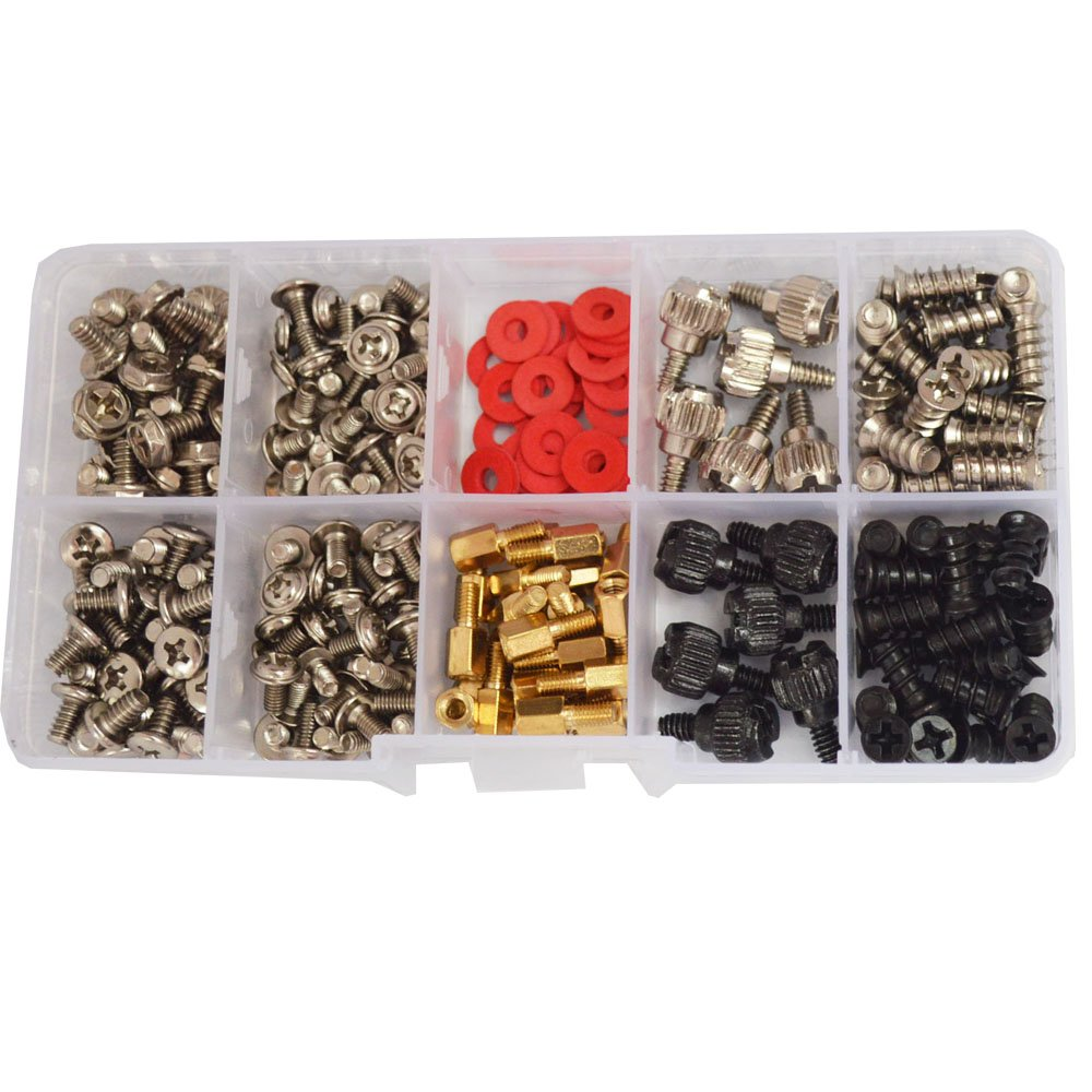 DANA FRED 227pcs Personal Computer Screws PC Standoff M3 M5 M6 Phillips Head Assortment Kit for Hard Drive Computer Case Motherboard fan power graphics by DANA FRED (Image #1)