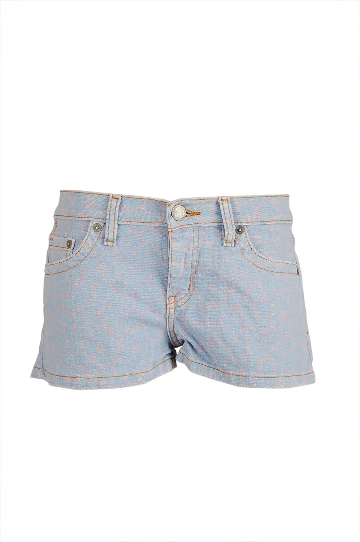 M2F Brand Denims Womens Floral Denim Short Shorts