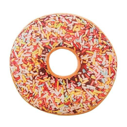 Cojín Gaddrt en forma de donut, algodón, Morado, A: Amazon ...
