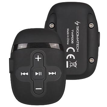Sigoma 8 GB Natacion acuatico Reproductor de mp3 con Auriculares Impermeables Sonido(Black/White