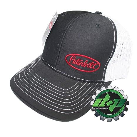 e0d3b7034 Amazon.com: Peterbilt Trucks Black w/White Mesh Back Side Logo ...