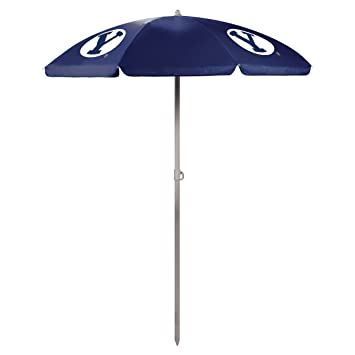 Picnic Time 822-00-138-714-0 Brigham Young University Cougars Digital Print Beach Umbrella, Navy