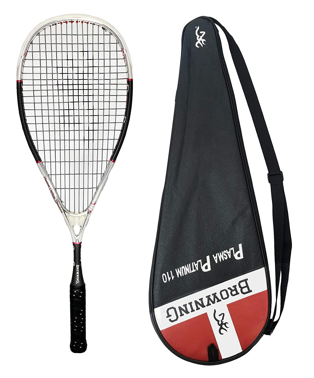 d827a61f4 Browning Plasma Platinum 110 Squash Racket + Cover  Amazon.co.uk  Sports    Outdoors