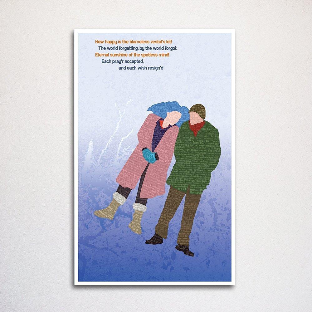 Eternal Sunshine of the Spotless Mind word art print 11x17\