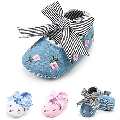 Baby Girl Shoes - Mary Jane Bowknot Infant Toddler Girl Soft Sole Princess Crib Shoes