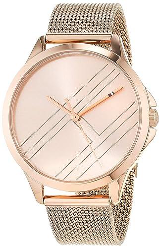 Tommy Hilfiger Reloj Analógico para Mujer de Cuarzo con Correa en Oro Rosa 1781963: Amazon.es: Relojes