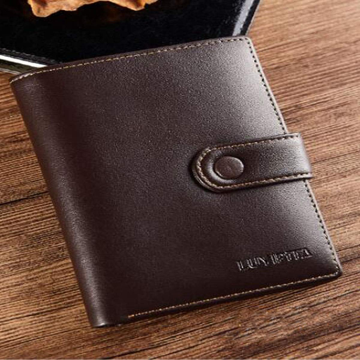 Black cm Stealth Mode Blocking Leather Wallet Color 9.6 1.8 12.8 Suitable for Mens Fashion Short Ultra-Thin Youth New Leather Wallet Kalmar RFID Travel Wallet Size