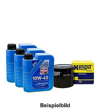Set 3L de aceite LIQUI MOLY 10 W de 40 + caballo semental de aceite