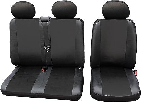 Volkswagen T4 BUS 1+1 Vorne Grau Universal Autositzbezüge Transporter Sitzbezug